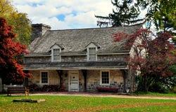 兰卡斯特, PA :Landis博物馆的石小酒馆 库存图片