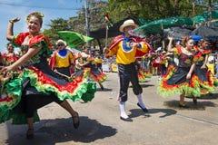 巴兰基利亚狂欢节,在哥伦比亚 免版税库存照片
