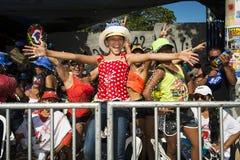 巴兰基利亚狂欢节,在哥伦比亚 图库摄影