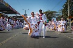 巴兰基利亚狂欢节,在哥伦比亚 库存照片