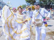 巴兰基利亚狂欢节 库存照片
