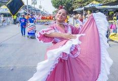 巴兰基利亚狂欢节 免版税库存照片
