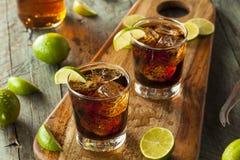 兰姆酒和可乐古巴Libre 免版税库存图片