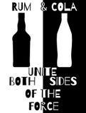 兰姆酒和可乐团结的力量  免版税库存图片
