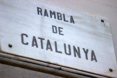 兰布拉de Catalunya 库存图片