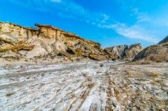 兰布拉de Sal en塔宾斯沙漠自行车赛 免版税库存照片