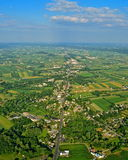 兰开斯特县的农场和领域 免版税库存图片