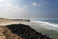 兰德斯,法国海岸  免版税库存照片