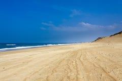 兰德斯,法国海岸  库存图片