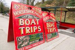 兰戈伦运河用马拉的小船旅行 库存图片