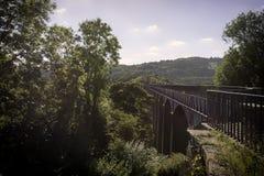 兰戈伦Aquaduct,北部威尔士 库存照片