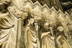 兰斯大教堂  库存照片
