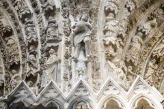 兰斯-外部大教堂  库存照片