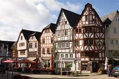 兰河畔林堡都市风景在德国 库存图片