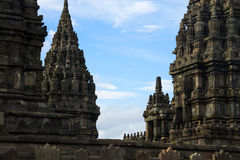 巴兰班南印度寺庙,日惹,印度尼西亚 库存图片