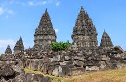 巴兰班南寺庙,印度尼西亚 免版税库存照片