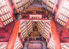 兰纳亚洲寺庙天花板 免版税图库摄影