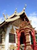 兰纳样式寺庙,清莱,泰国 库存图片