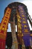 兰纳泰国旗子 免版税图库摄影