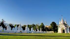 兰纳Stupas 免版税库存照片