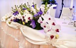 兰花装饰婚礼 库存图片