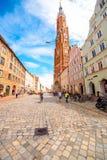 兰茨胡特老镇在德国 免版税库存图片