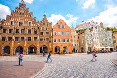 兰茨胡特老镇在德国 免版税库存照片