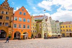 兰茨胡特老镇在德国 免版税图库摄影
