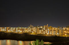兰萨罗特岛夜 库存照片