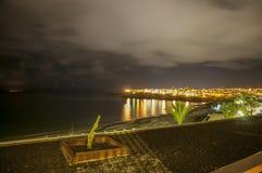 兰萨罗特岛夜 免版税图库摄影