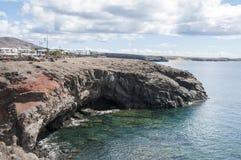 兰萨罗特岛峭壁  免版税库存照片