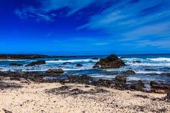 兰萨罗特岛有许多和美丽的海滩 库存图片