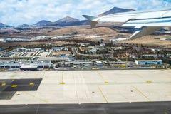 兰萨罗特岛机场天线  库存图片