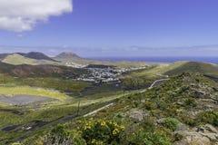 兰萨罗特岛横向 库存照片