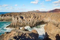 兰萨罗特岛海岛美好的风景  免版税库存图片