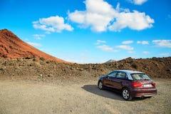 兰萨罗特岛海岛美好的风景  图库摄影