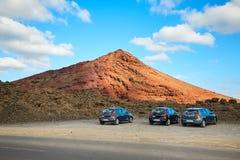 兰萨罗特岛海岛美好的风景  免版税库存照片