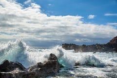 兰萨罗特岛海岸 免版税库存图片