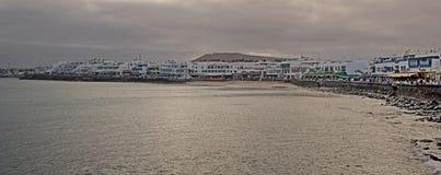 兰萨罗特岛海滩,大街 免版税库存照片