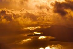 兰萨罗特岛海  免版税库存照片
