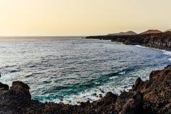 兰萨罗特岛海滩 图库摄影