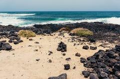 兰萨罗特岛海滩 库存图片