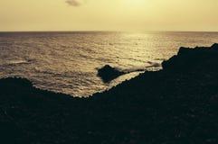兰萨罗特岛海滩 免版税图库摄影