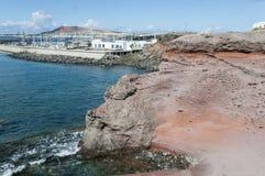 兰萨罗特岛港  库存照片