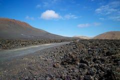 兰萨罗特岛火山的风景002 免版税库存照片
