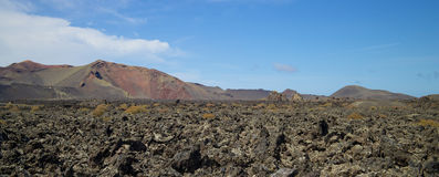 兰萨罗特岛火山的风景003 库存图片