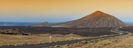 兰萨罗特岛火山,西班牙 免版税库存照片