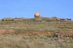 兰萨罗特岛的,加那利群岛,西班牙天文学观测所 免版税库存图片