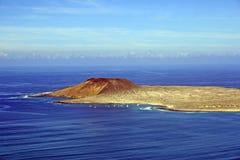从兰萨罗特岛的Graciosa 库存图片
