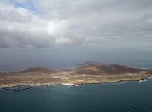 兰萨罗特岛鸟瞰图  库存图片